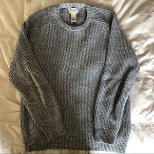 L.L.Bean Gray Fishnet Sweater